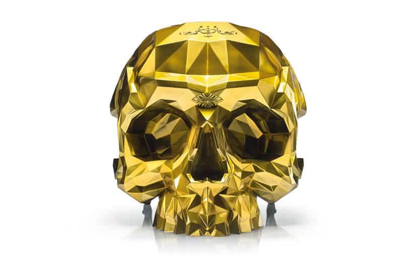 24-Karat Gold Skull Armchair by Harow