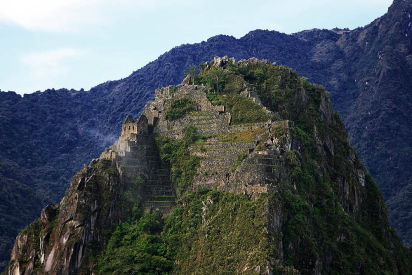 Huayna Picchu as seen from Machu Picchu