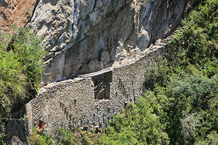 Inca Drawbridge - Machu Picchu Peru