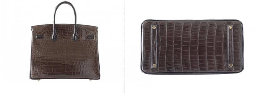 Luxury Croc Birkin Bag Back View