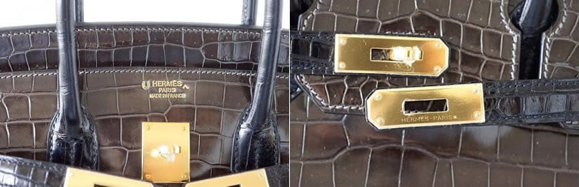 Luxury Croc Birkin Bag, Handles