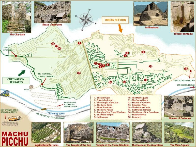 Machu Picchu sanctuary map