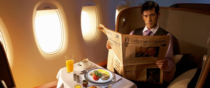 Suites and First Class cuisine