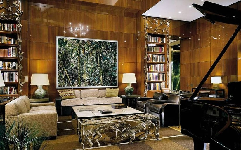 Ty Warner Penthouse library - Four Seasons