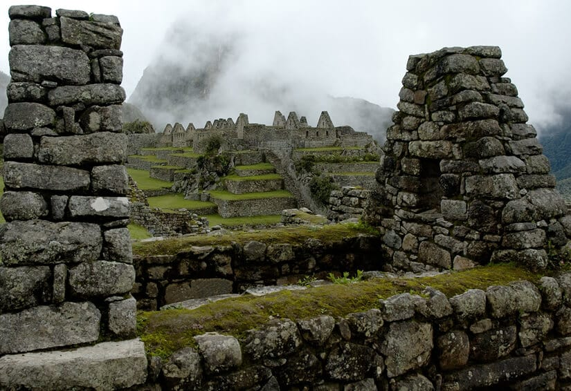 View of the residential section of Machu Picchu