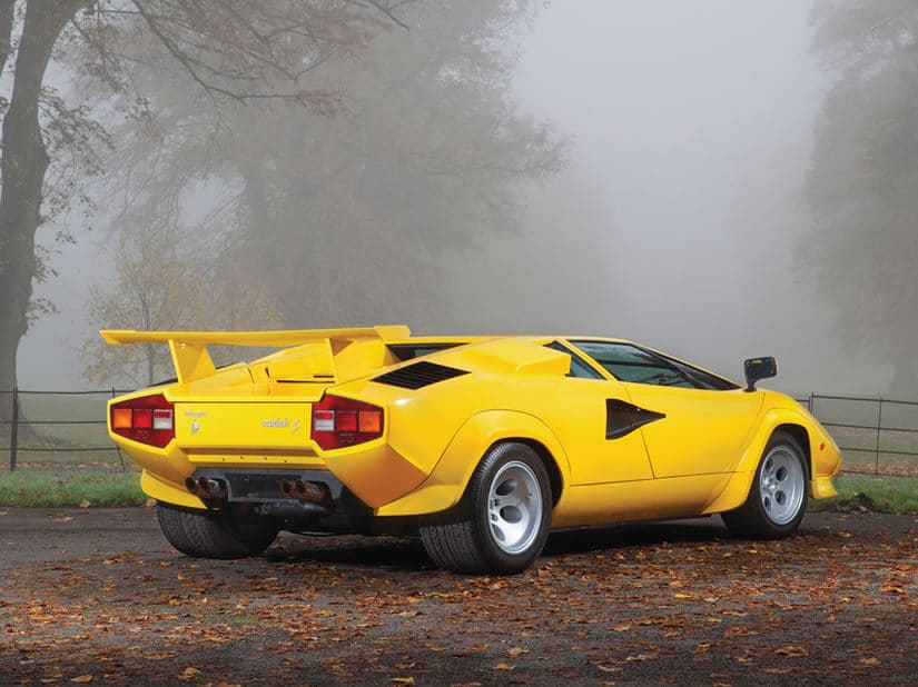 Back View, Lamborghini Countach LP400 S Series III
