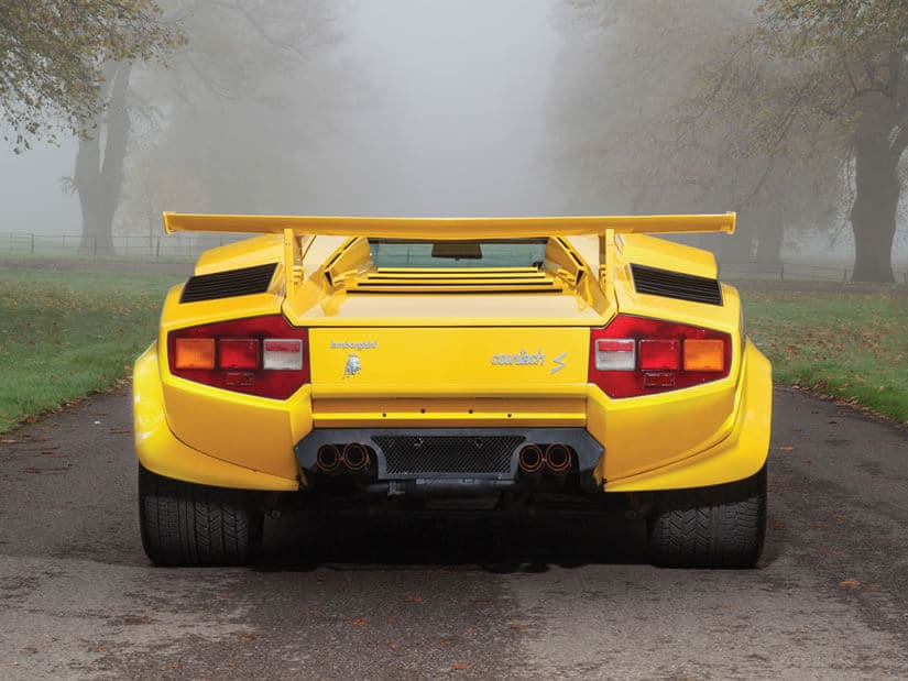Back View, Lamborghini Countach LP400