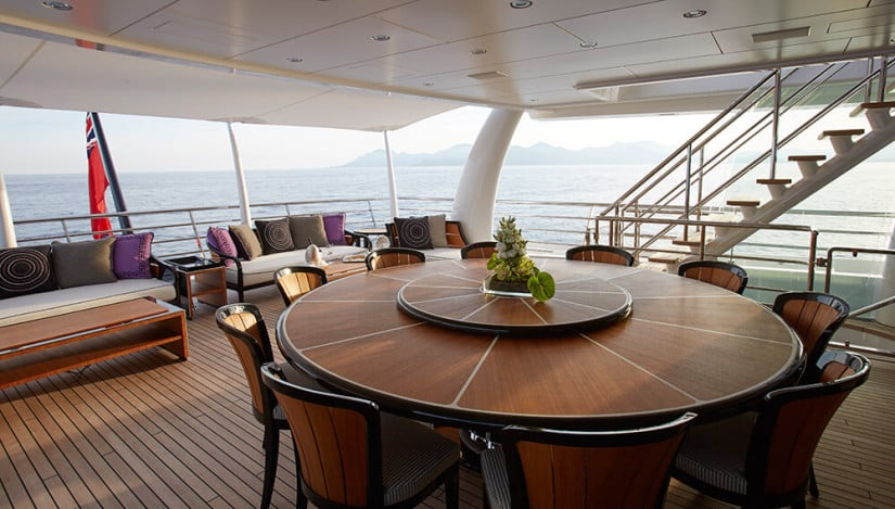 Deck, Madame Kate Luxury Yacht