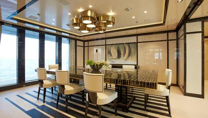 Dining Area, Madame Kate Luxury Yacht