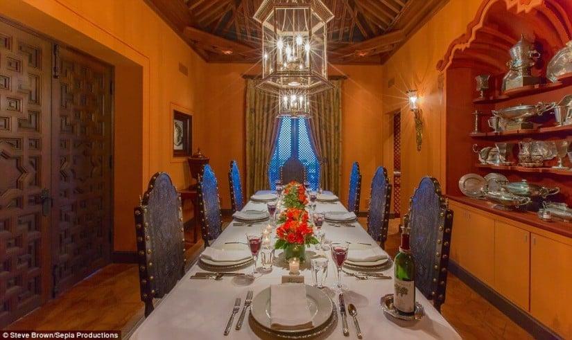 Dining Room, Hacienda de la Paz, Los Angeles