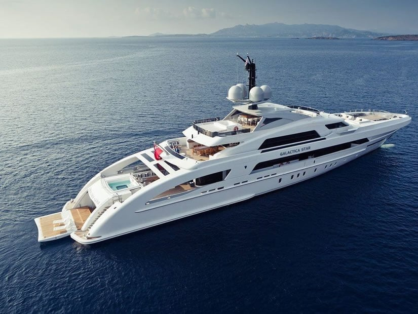Galactica Star Superyacht Side View