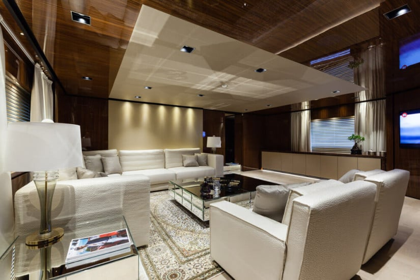 Interior Design, Only One Superyacht by Baglietto