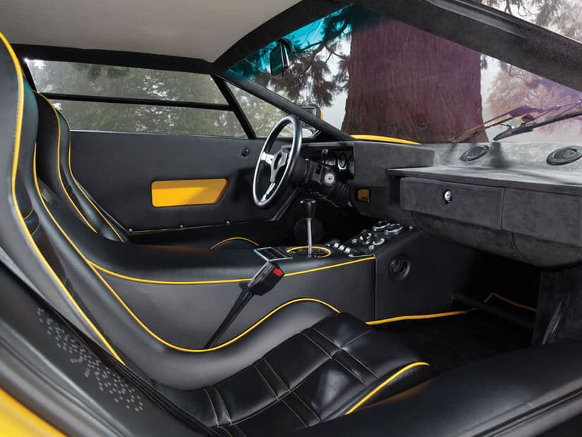 Interior, Lamborghini Countach LP400