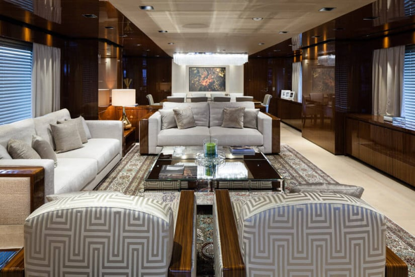 Interior, Only One Superyacht by Baglietto