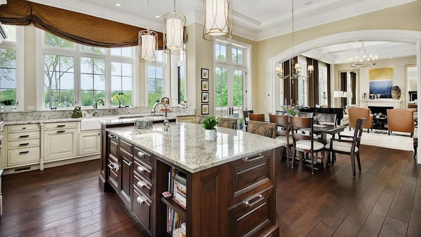 Kitchen, French Provincial Mansion