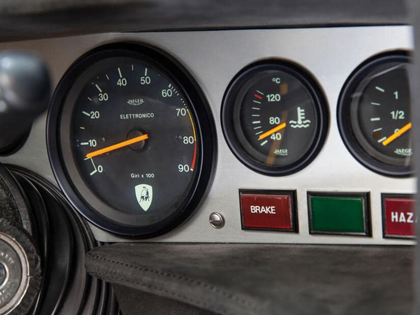 Lamborghini Countach LP400, Rev Counter