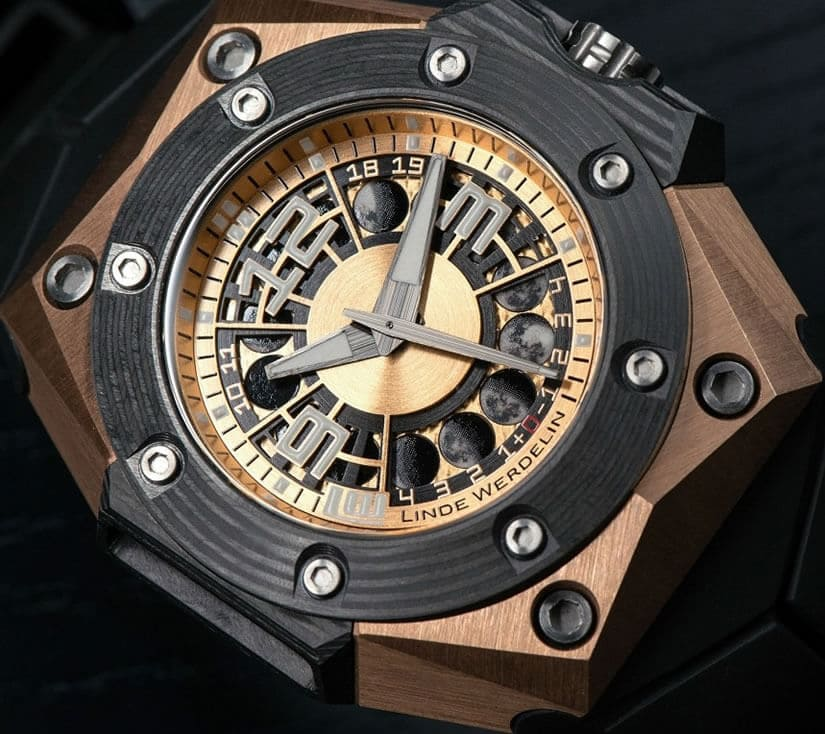 Linde Werdelin Oktopus Moon Gold 3DTP Watch