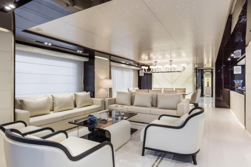 Living Area, Dreamline 34 by DL Yacht