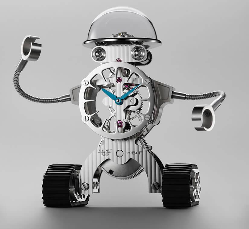 Luxury Sherman Robot Desk Clock