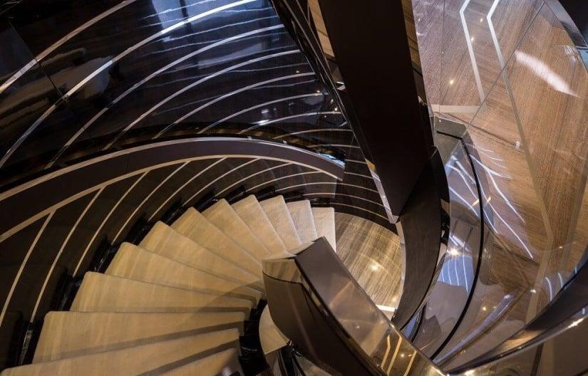 Main Staircase, Galactica Star Yacht