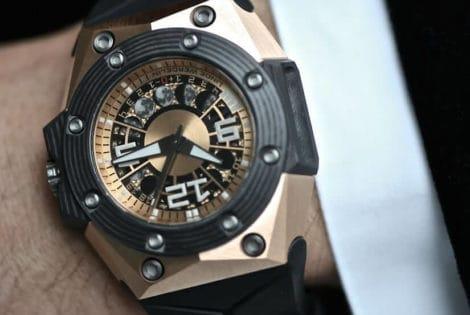 Oktopus Moon Gold 3DTP Carbon Watch, Dial