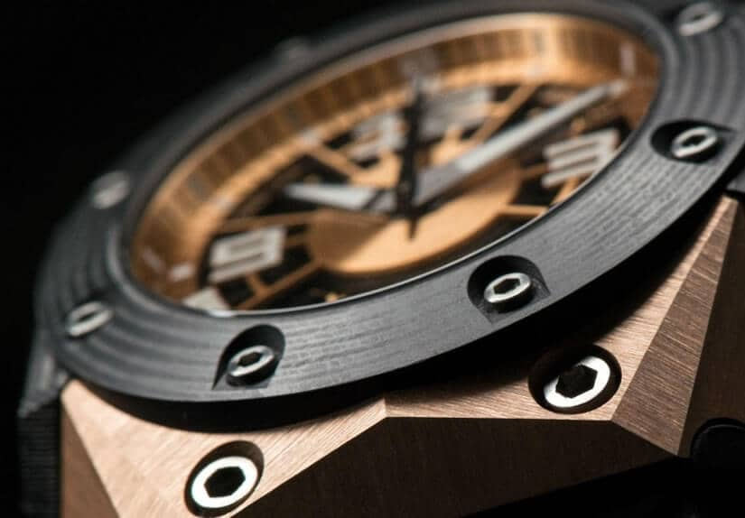 Oktopus Moon Gold 3DTP Carbon Watch