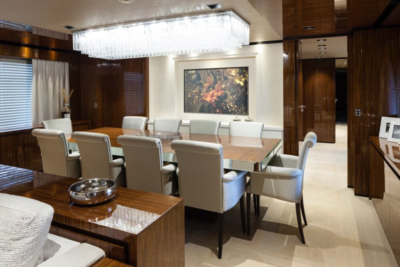 Only One Superyacht, Dining Area