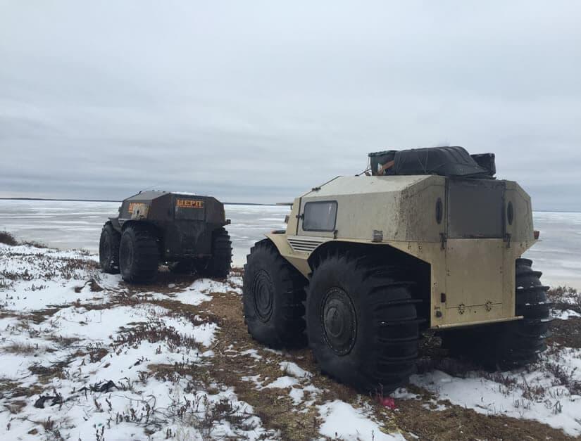 Russian Amphibian ATV Sherp Back View