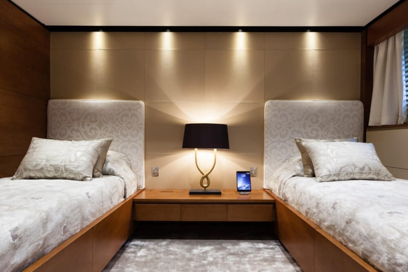 Twin Cabin, Only One Superyacht by Baglietto