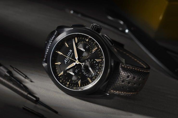 Alpiner 4 Black Flyback Manufacture Chronograph 1