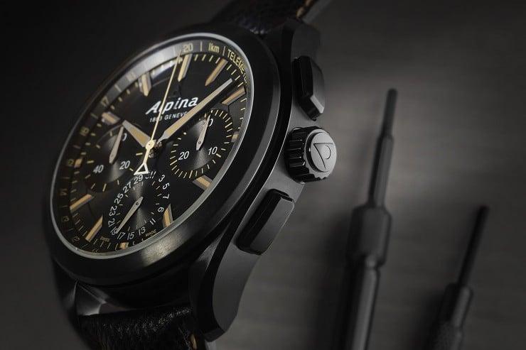 Alpiner 4 Black Flyback Manufacture Chronograph 2