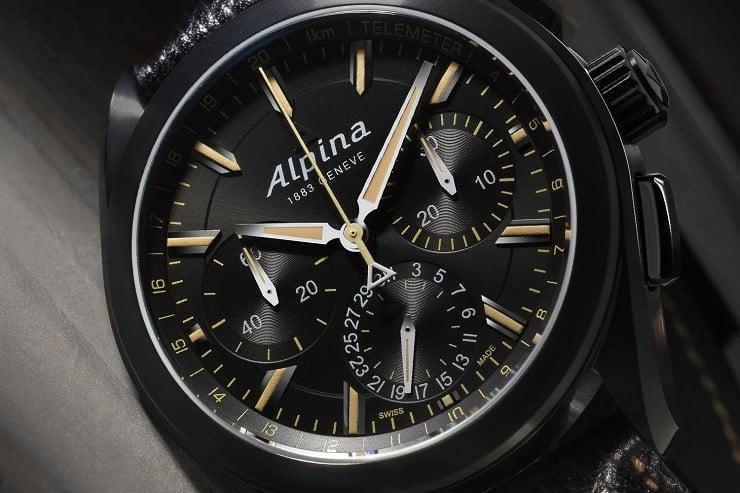 Alpiner 4 Black Flyback Manufacture Chronograph 5