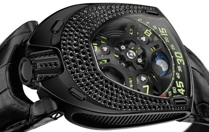 Black Urwerk-UR-106 Lotus Watch