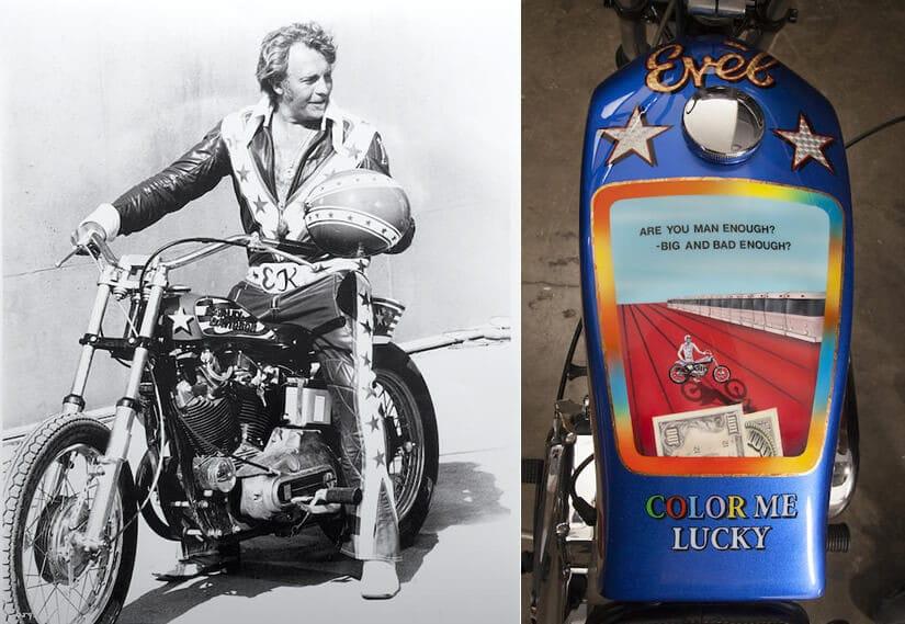 Evel Knievel Harley Davidson Xl1000: Custom Evil Knievel 1976 Harley-Davidson XL1000