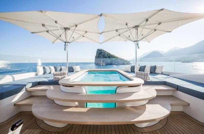 Jacuzzi, Ruya Yacht by Alia Yachts
