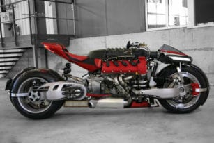 Lazareth LM 847 Motorcycle, Back View
