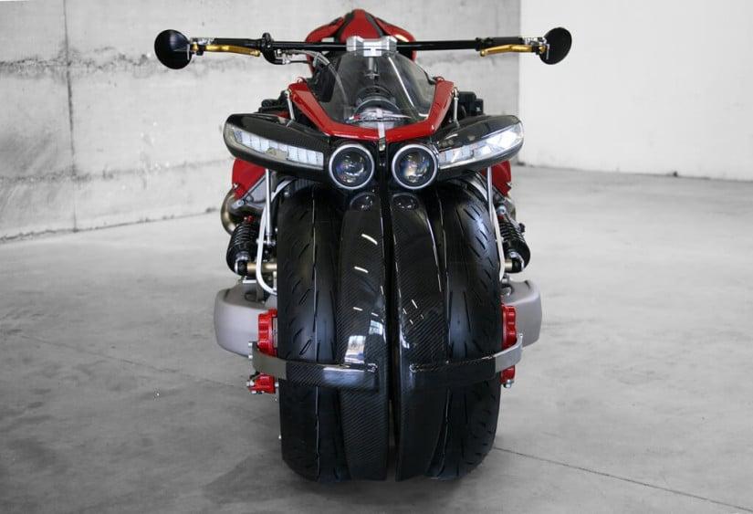 Maserati V8 Engine, Lazareth LM 847 Motorcycle