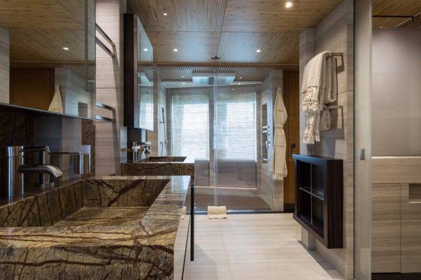 Owner's Bathroom, Ruya Luxury yacht by Alia Yachts