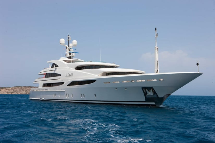 St. David Superyacht Side View