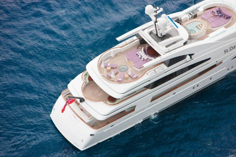 Top View St. David Superyacht
