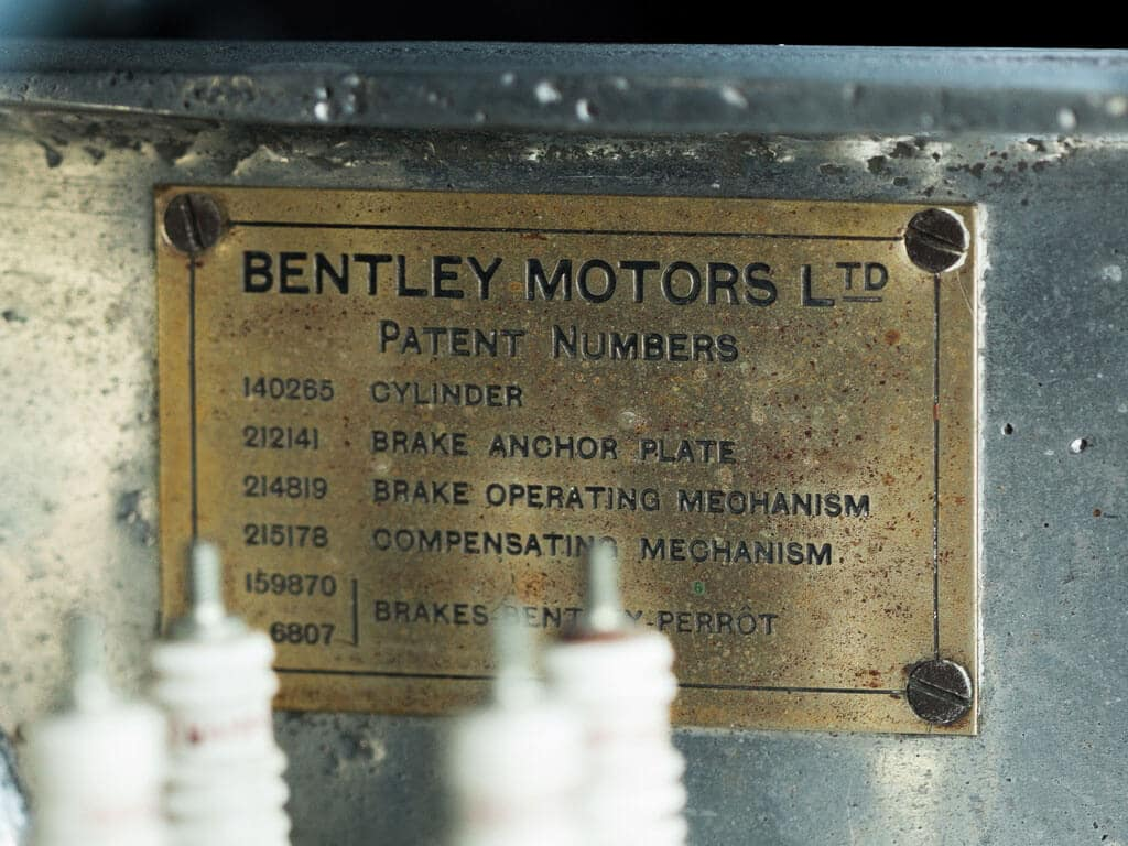 1928 Bentley 4 ½ -Liter Tourer, Patent Numbers