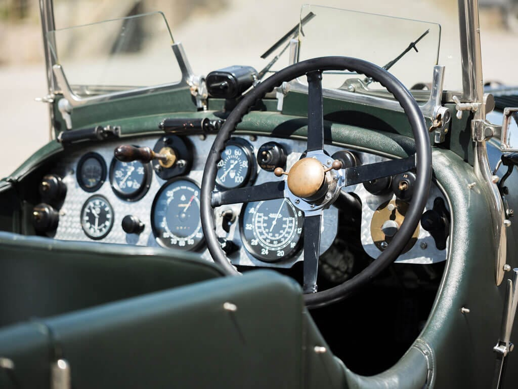 1928 Bentley 4 ½ -Liter Tourer, Steering Wheel