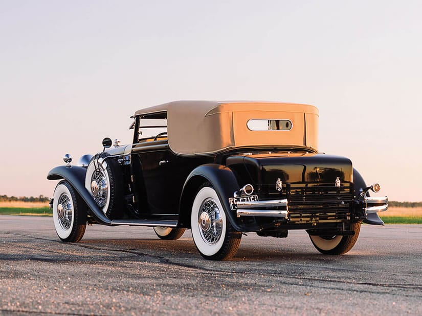 1931 Stutz DV-32 Convertible Victoria by Rollston, Back View