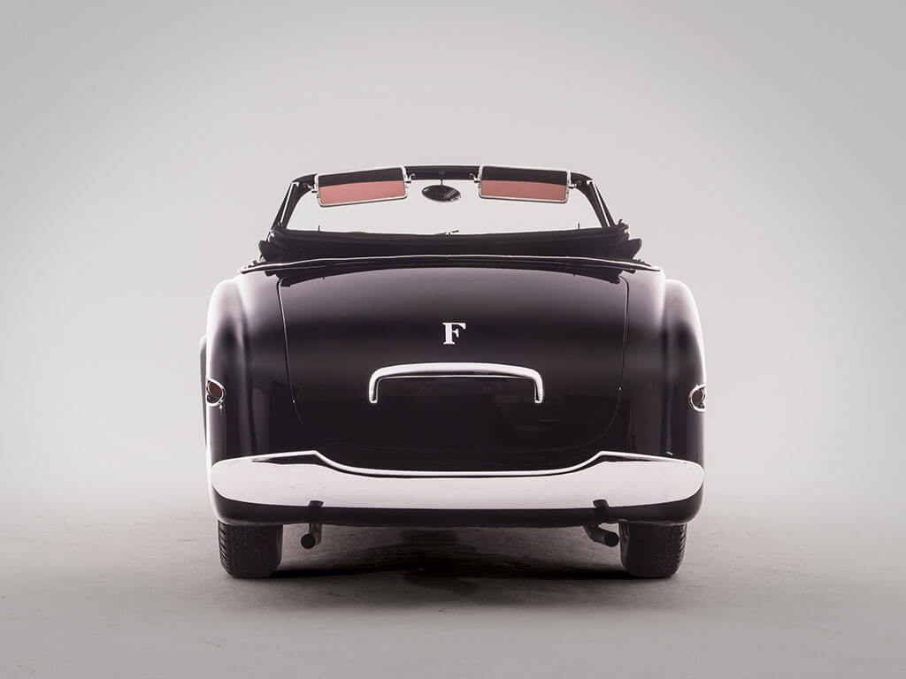 Back View, 1952 Ferrari 212 Inter Cabriolet by Vignale