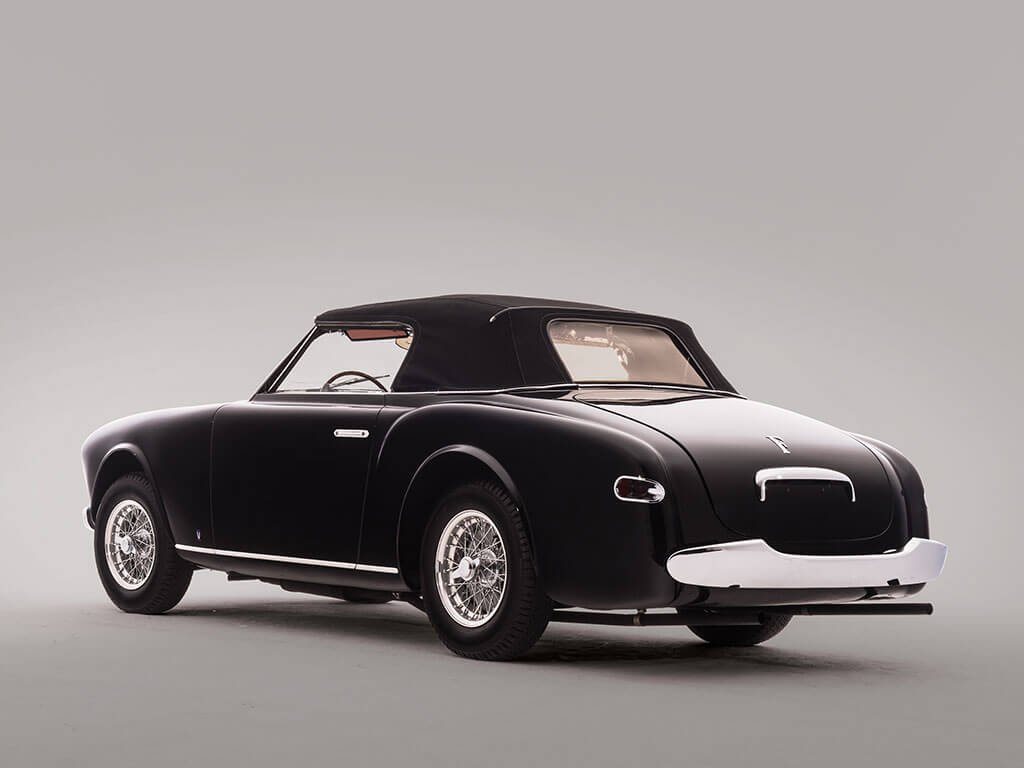 Back View, Rare 1952 Ferrari 212 Inter Cabriolet by Vignale