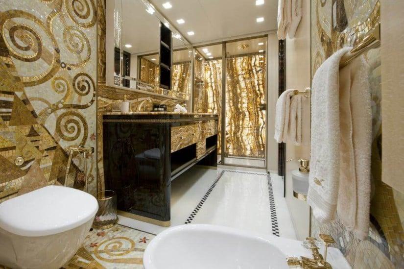 Bathroom, Scorpion Superyacht by Sanlorenzo