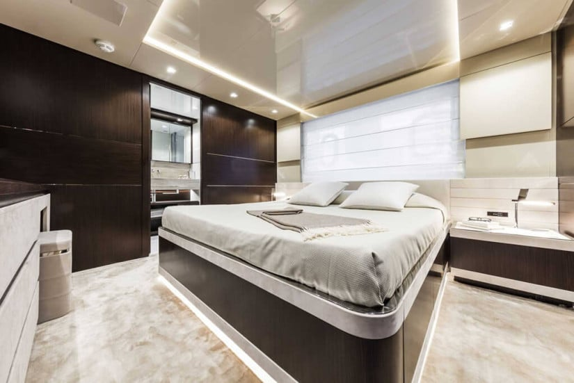 Cabin, Custom Line 108 Luxury Yacht