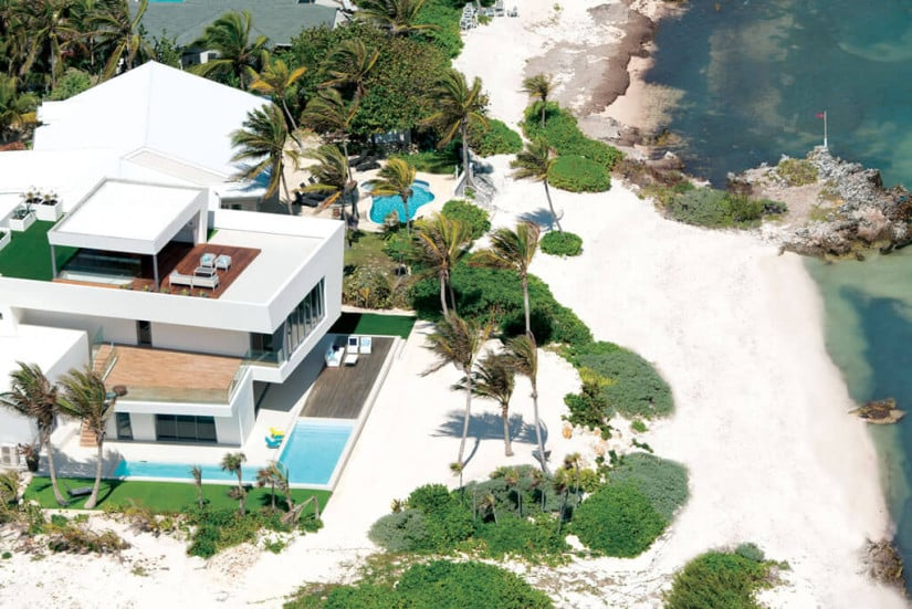 Camden House in the Cayman Islands, Top View