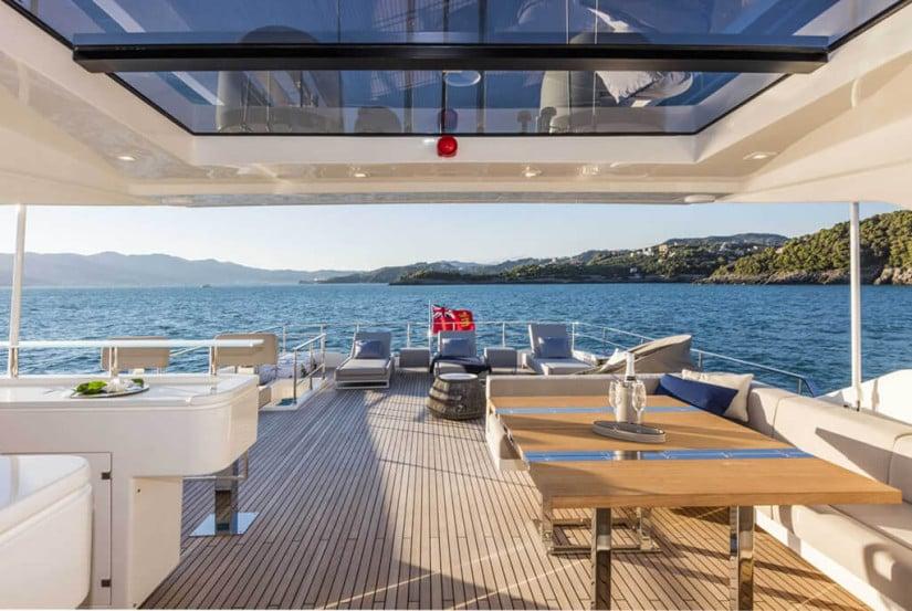 Deck, Custom Line 108 Luxury Yacht