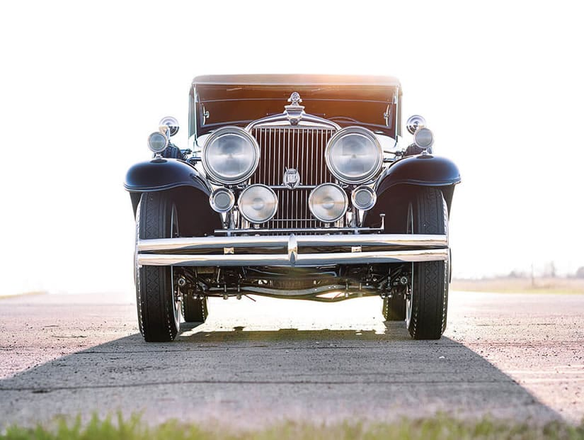 Front View, 1931 Stutz DV-32 Convertible Victoria by Rollston